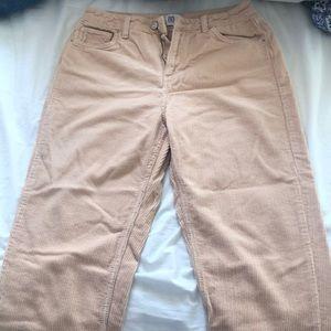 BDG Pale Pink Corduroy Mom Pants